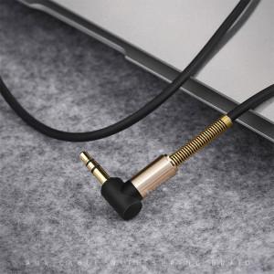 AUX Кабель 3.5mm Hoco UPA02 - 2 м (Черный) + Микрофон