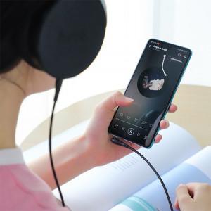 AUX Кабель 3.5mm Hoco UPA15 - 1 м (Черный) + Микрофон