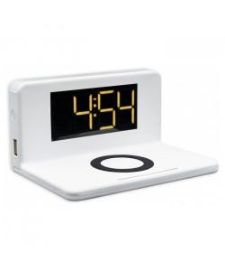 Часы с Беспроводной зарядкой SY-W0241 + LED