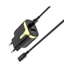 Сетевое зарядное устройство Hoco C79A QC3.0+PD Type-C на Lightning