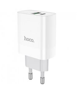 Сетевое зарядное устройство Hoco C80A PD 20W+QC3.0 3.1A Type-C на Lightning