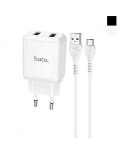 Сетевое зарядное устройство Hoco N7 2 USB 2.1A Type-C