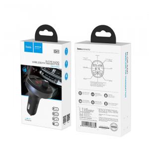 FM Модулятор Hoco E41 – 2 USB + Bluetooth