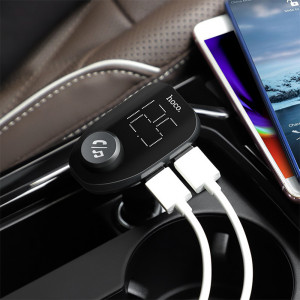 FM Модулятор Hoco E45 – 2 USB + Type C + Bluetooth