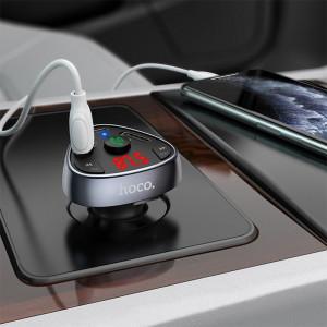 FM Модулятор Hoco E51 – 2 USB + Type C + Bluetooth