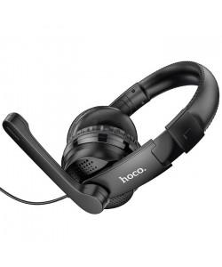 Наушники накладные игровые Hoco W103 чёрные с микрофоном
