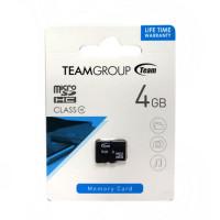 Карта памяти Micro SD 4GB (Class 10) – Team