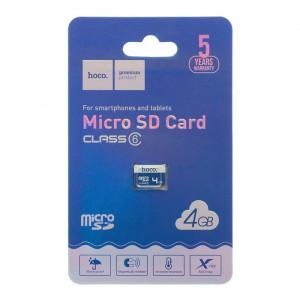 Карта памяти Micro SD 4GB (Class 6) – Hoco 6