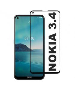 3D Стекло Nokia 3.4 – Full Glue (полный клей)