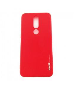 Чехол силиконовый Nokia 5.1 Plus – Smtt (Красный)