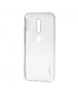 Чехол силиконовый Nokia 5.1 Plus – Smtt (Прозрачный)