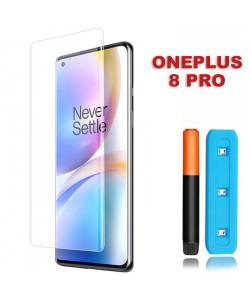 3D Стекло OnePlus 8 Pro (С ультрафиолетовым клеем)