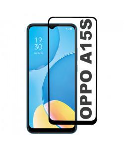 3D Стекло Oppo A15S – Full Glue (полный клей)