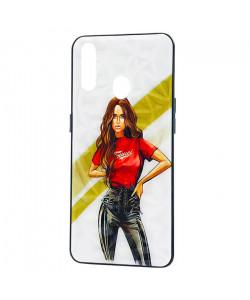 Чехол Oppo A31 – Ladies Girl Fashion Mix (Красный)