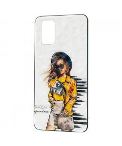 Чехол Oppo A72 – Ladies Girl Fashion Mix (Желтый)