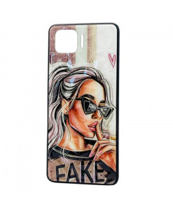 Чехол Oppo A73 – Lady Fake Fashion Mix