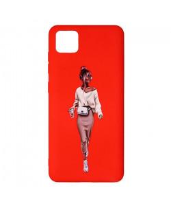 Силиконовый чехол Realme C11 – ART Lady Red