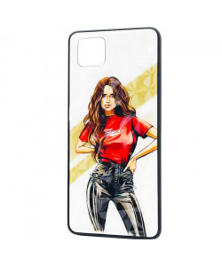 Чехол Realme C11 – Ladies Girl Fashion Mix (Красный)