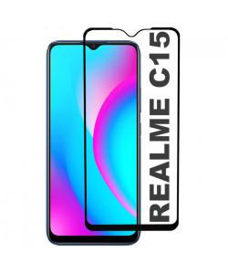 3D Стекло Realme C15 – Full Glue (полный клей)