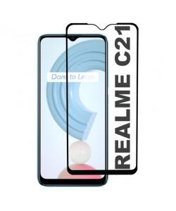 3D Стекло Realme C21 – Full Glue (С полным клеем)