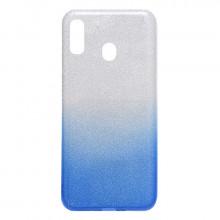 Цветной чехол Samsung Galaxy A30 – Shine (Градиент синий)