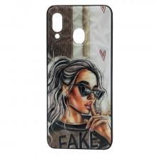 Чехол Samsung Galaxy A30 – Lady Fake Fashion Mix