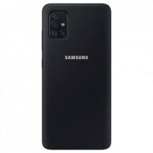 Силиконовый Чехол Samsung Galaxy A51 – Full Cover (Черный)
