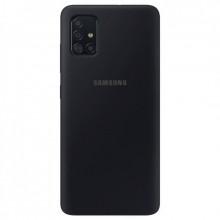 Силиконовый Чехол Samsung Galaxy A71 – Full Cover (Черный)