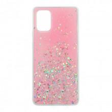 Чехол Metal Dust Samsung Galaxy A71 – Розовый