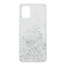 Чехол Metal Dust Samsung Galaxy A71 – Серебристый
