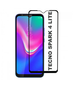 3D Стекло Tecno Spark 4 Lite – Full Glue (полный клей)