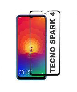 3D Стекло Tecno Spark 4 – Full Glue (полный клей)
