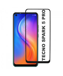 3D Стекло Tecno Spark 5 Pro – Full Glue (полный клей)
