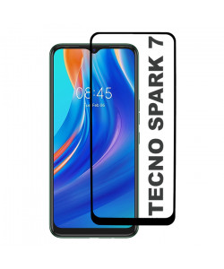 3D Стекло Tecno Spark 7 – Full Glue (полный клей)