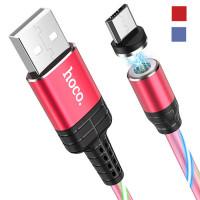 USB Кабель Hoco U90 – Магнитный и Мигающий (1 м)