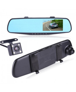 Зеркало-видеорегистратор XoKo DVR-M489FHD 1080P, LCD 4.3″ в комлекте с камерой заднего вида