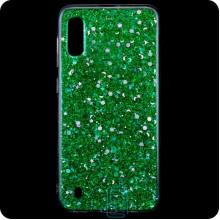 Чехол силиконовый Конфетти Samsung M10 2019 M105 зеленый