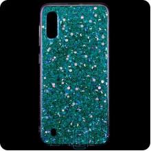 Чехол силиконовый Конфетти Samsung M10 2019 M105 голубой