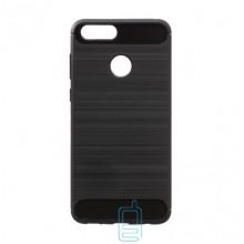 Чехол силиконовый Polished Carbon Huawei Honor 7X черный