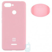 Чехол Silicone Cover Full Xiaomi Redmi 6 розовый