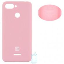 Чехол Silicone Cover Full Xiaomi Redmi 6 розовый