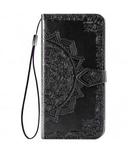 Кожаный чехол (книжка) Art Case с визитницей для Realme 5 — Черный