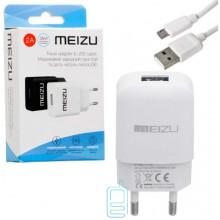 Сетевое зарядное устройство Meizu YJ-06 1USB 2.0A micro-USB white