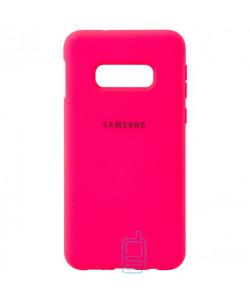 Чехол Silicone Case Full Samsung S10E G970 малиновый
