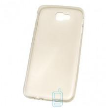 Чехол силиконовый Slim Samsung J7 Prime G610 затемненный