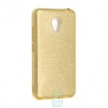 Чехол силиконовый Shine Meizu M3 золотистый