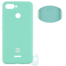 Чехол Silicone Cover Full Xiaomi Redmi 6 бирюзовый