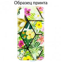 Чехол Mix Flowers Apple iPhone 11 light green