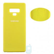Чехол Silicone Cover Full Samsung Note 9 N960 желтый