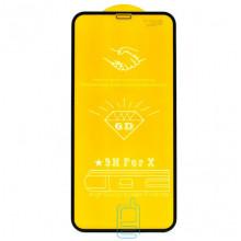 Защитное стекло 6D Apple iPhone XR black тех.пакет